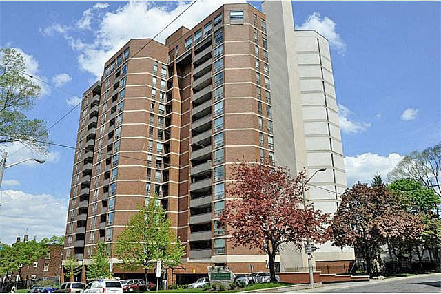 The Village Hill condos at 222 Jackson Street West located in Downtown Hamilton, Ontario